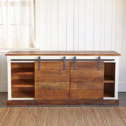 Barn Door Media Cabinet Robert Redford Yorkville Brown Planks Sliding Door Console