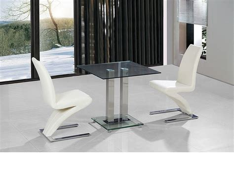 Small Dining Table For 2 Small Clear Glass Dining Table And 2 Faux Chairs In