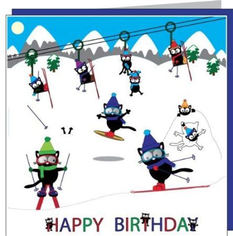 My Happy Kitchen Snow Kulkas cats birthday cards and home on