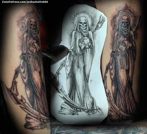 awesome santa muerte tattoo photos styles amp ideas 2018