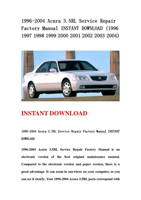 service and repair manuals 2003 acura rl free book repair manuals service manual 2004 acura rl acclaim radio manual 2004