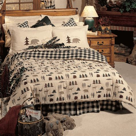 rustic bedding queen size northern exposure comforter setblack forest decor