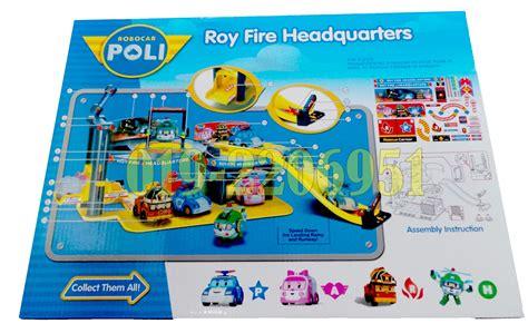 Robocar Poli Headquarter Playset Original Silverlit robocar poli roy headquarters 11street malaysia board
