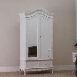 shabby chic 2 door rococo wardrobe armoire white