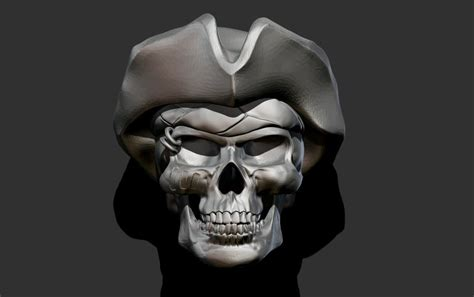 pirate skull  model  printable obj cgtradercom