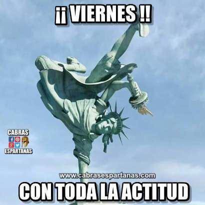 imagenes chistosas de buenos dias es viernes buenos d 237 as viernes con toda la actitud buenos dias