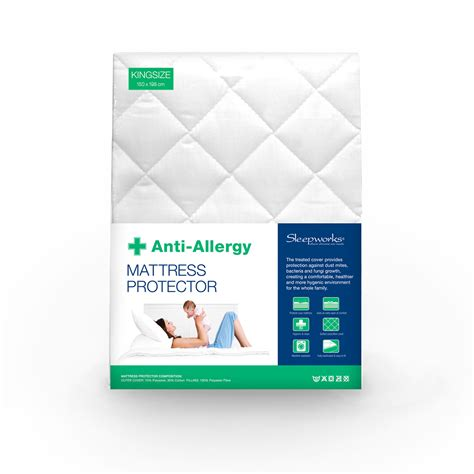 allergy bedding quilted anti allergy mattress protector sw living