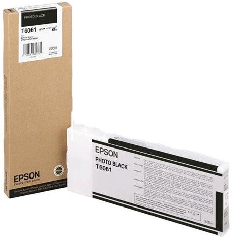 Tinta Epson Stylus Pro 4880 Epson T606100 Tinta Photo Black Epson Ultrachrome 220ml