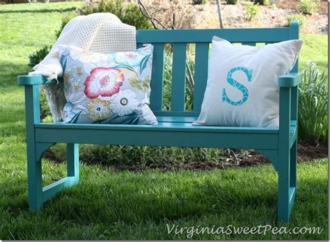 garden bench makeover sweet pea