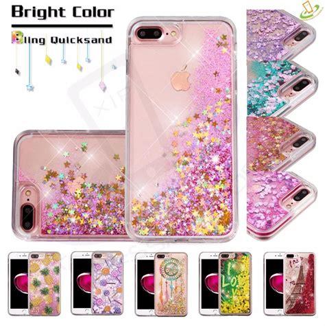 apple iphone 6 6s plus bling hybrid liquid glitter rubber protective cover ebay