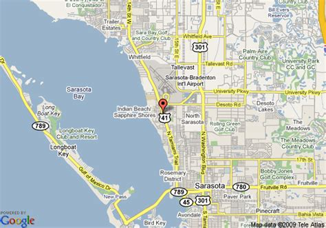 map of sarasota florida map of sarasota days inn airport sarasota