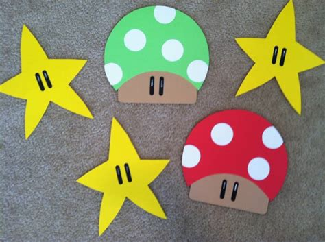mario crafts for mario bros decorations by clevercouponchick at