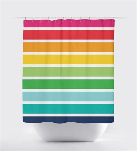 rainbow shower curtain rainbow striped shower curtain custom shower curtain