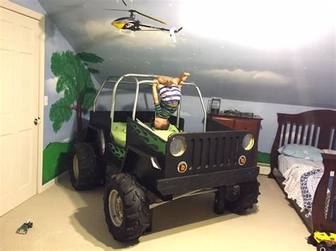 boys jeep bed    shipping crate