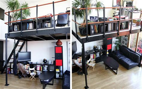 diy kit to add a mezzanine wherever you want by tecrostar now you can add a micro loft to your home with a diy kit