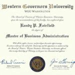 Western Governors Mba Cost by Randy Fairfield