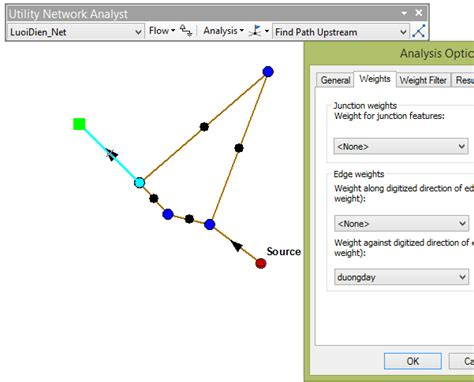 arcgis tutorial geometric network arcgis desktop using weight in geometric network to find
