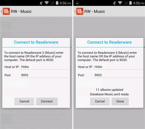 mobile sync how can i sync my mobile device to my readerware server