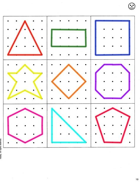creative pattern games geoboard pattern for busy bags geometry pinterest