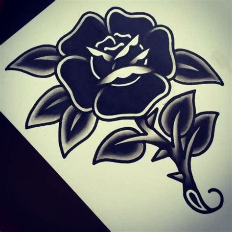 tattoo old school grey dark black flower old school tattoo traditional tink