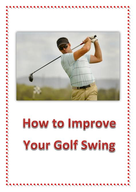 how to get a good golf swing how to improve your golf swing