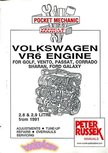 volkswagen vr6 engine shop manual service repair book corrado passat golf jetta ebay