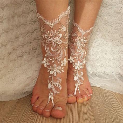 Frame Foto Sandal copper frame bridal anklet ivory frame wedding