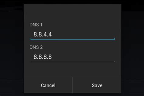 set dns android change dns settings for android