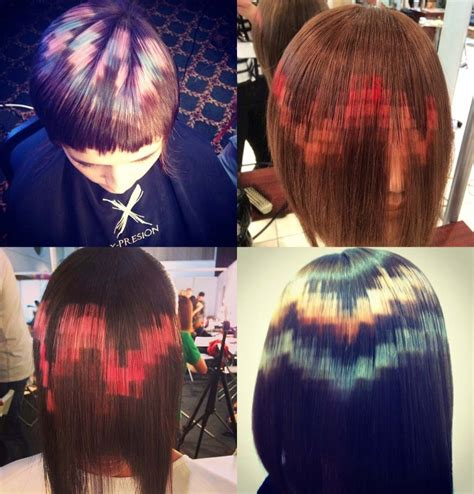 xpression pixel hair color hair that looks like pixel art xpresionpixel boing boing