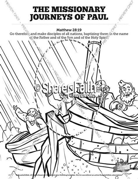 paul s second journey coloring page paul s journeys bible for bible for