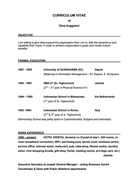 sample resume objective sentences resume builder
