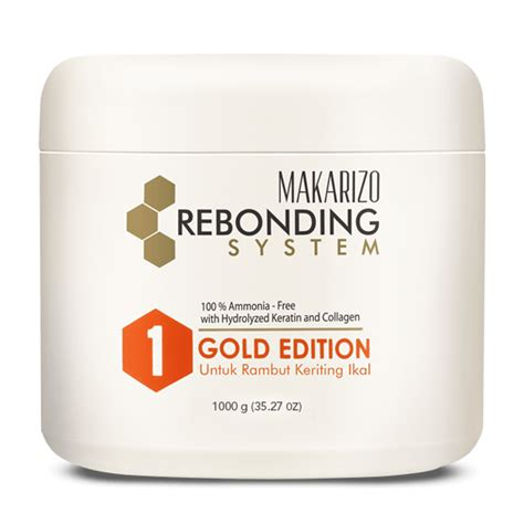 Harga Makarizo Rebonding System Gold rebonding system straightening gold edition 1000 g