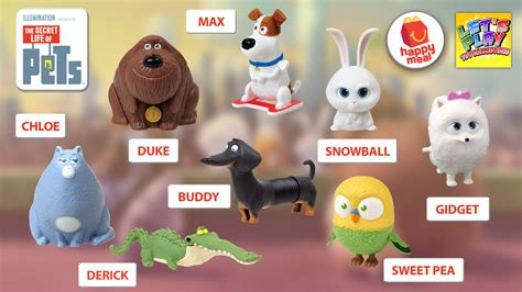 Happy Meal Mcdonald The Secret Of Pets 2016 the secret of pets mcdonald s happy meal complete set of 8 toys