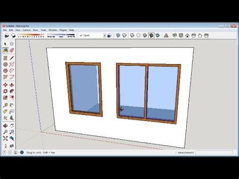 make window sketchup how to make windows youtube