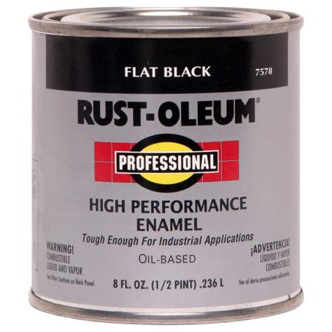 best exterior based paint shop rust oleum professional high performance black flat