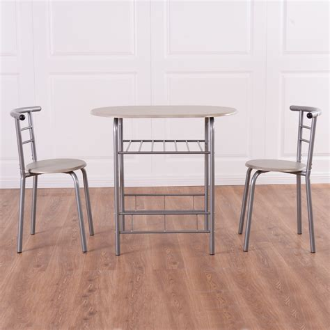 Indoor Bistro Table And Chair Set 3pcs Bistro Dining Set Small Kitchen Indoor Outdoor Table Chairs Patio Furniture
