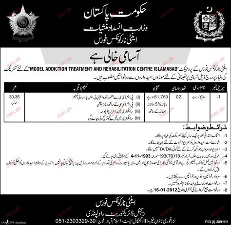 Online Resume Submit For Jobs by Psychologist Job Opportunity 2018 Jobs Pakistan Jobz Pk