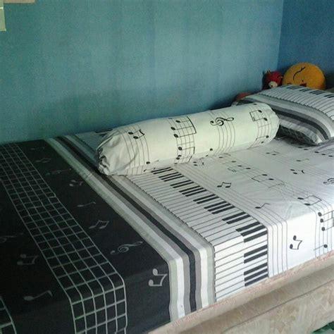 Bahan Sprei Per Meter pernak pernik musik 5 sprei piano bed cover bantal kain