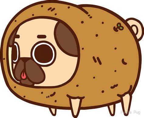potato pug quot puglie potato quot stickers by puglie pug redbubble