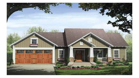 small one story house plans with porches single story craftsman house plans craftsman style house