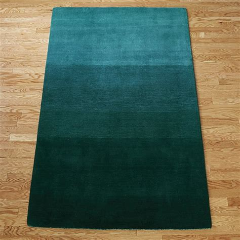and teal rugs ombre teal rug cb2