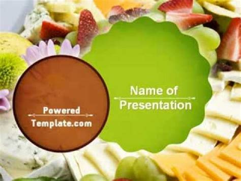 Baby Shower Food Powerpoint Template By Poweredtemplate Com Youtube Food Templates For Powerpoint