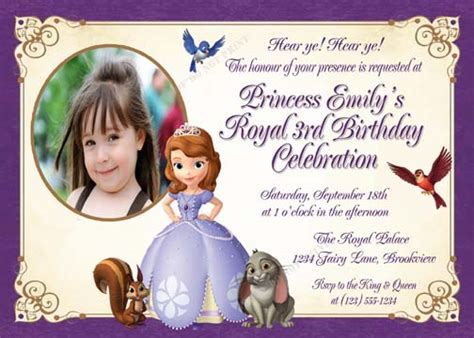 printable invitations of sofia the first personalized printable invitations cmartistry sofia