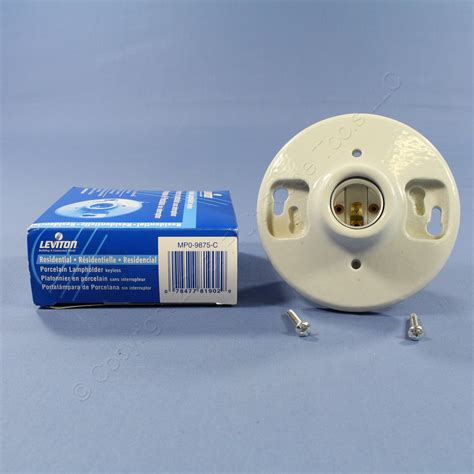 Ceiling Light Sockets Leviton Porcelain Ceiling Lholder Keyless Light Socket 9875 C Ebay