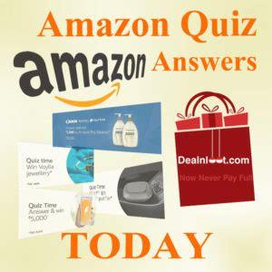 amazon quiz winner amazon quiz answers today contest list 5 may