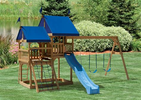 amish swing sets quality outdoor playsets from amish swings things
