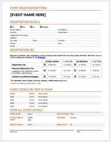 event registration form template word event registration forms template for ms word word