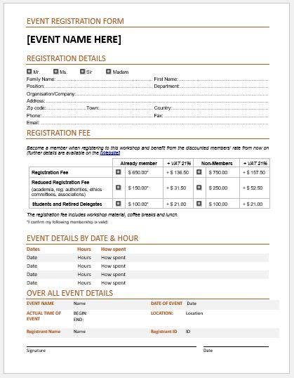 registration forms student registration form sle