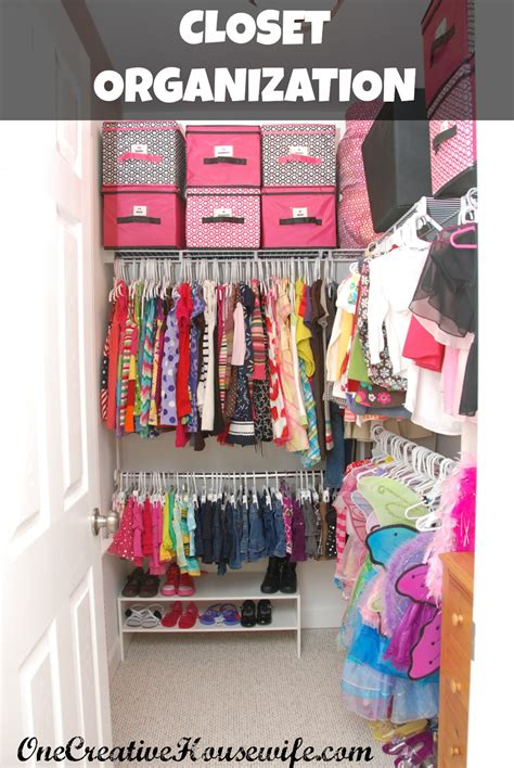 creative housewife organizing  daughters closet