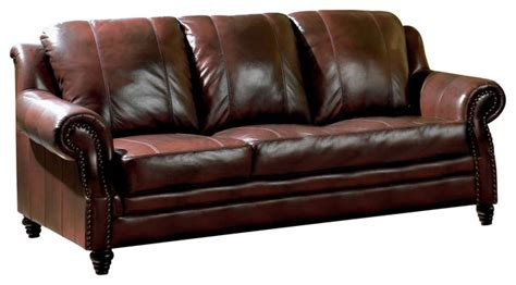 houzz couches coaster princeton leather sofa traditional sofas by